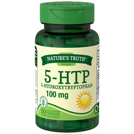 Nature's Truth 5-HTP 5-Hydroxytryptophan 100mg, Capsules - 50 ea