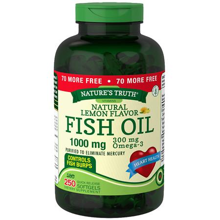 Nature's Truth Fish Oil 1000mg Lemon - 250 ea