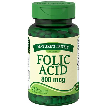Nature's Truth Folic Acid 800mcg - 250 ea