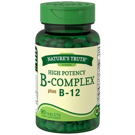 Nature's Truth High Potency B-Complex Plus B-12 - 90 ea