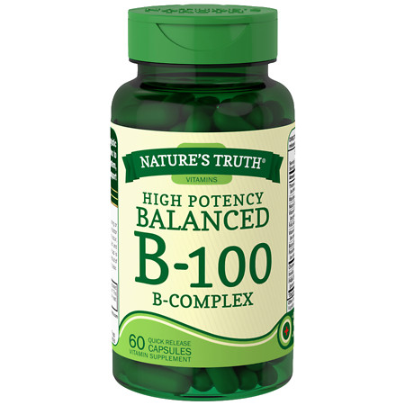 Nature's Truth High Potency Balanced B-100 B-Complex - 60 ea