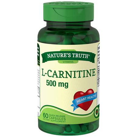 Nature's Truth L-Carnitine 500mg Plus CoQ-10 - 60 ea