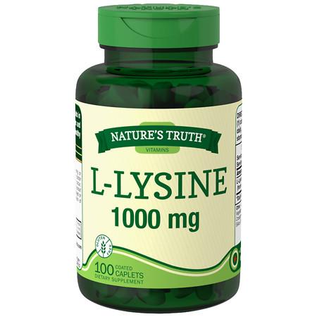 Nature's Truth L-Lysine 1000mg - 100 ea