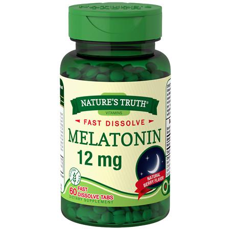 Nature's Truth Melatonin 12mg Berry - 60 ea