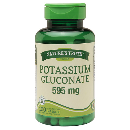 Nature's Truth Potassium Gluconate 595mg - 100 ea