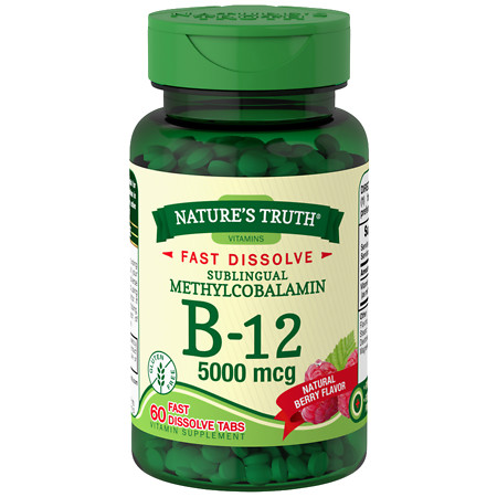 Nature's Truth Sublingual Methylcobalamin B-12 5000mcg Berry - 60 ea