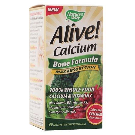Nature's Way Alive! Calcium Bone Formula, Tablets - 60 ea