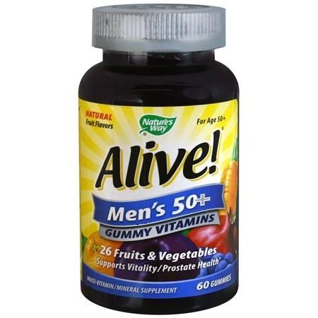 Nature's Way Alive! Men's 50+ Multi-Vitamin Gummies Fruit - 60 ea