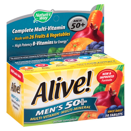 Nature's Way Alive! Men's 50+ Once Daily MultivitaminMultimineral Dietary Supplement Tablet - 50 ea