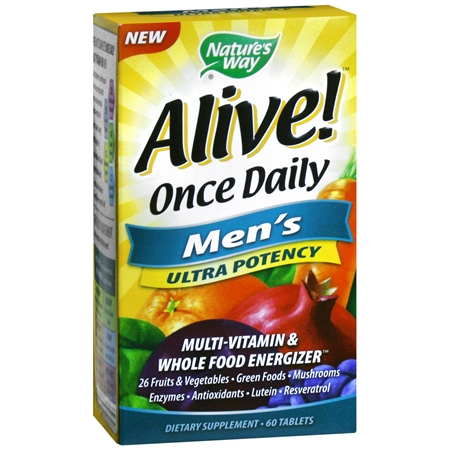 Nature's Way Alive! Once Daily Men's Ultra Potency Multivitamin, Tablets - 60 ea