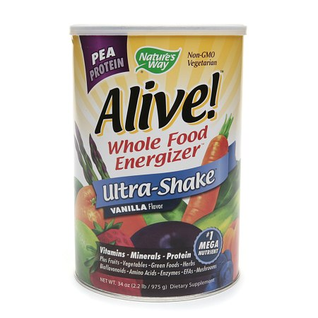 Nature's Way Alive! Pea Protein Whole Food Energizer, Ultra-Shake Vanilla - 34 oz.