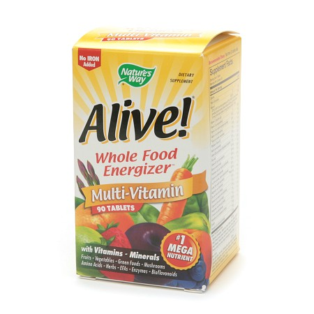 Nature's Way Alive! Whole Food Energizer Multivitamin, No Iron, Tablets - 90 ea