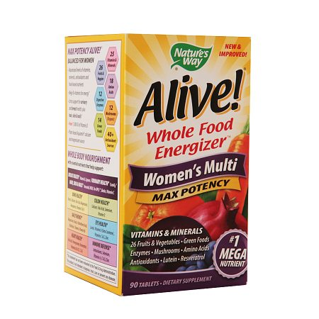 Nature's Way Alive! Whole Food Energizer Women's Multivitamin & Mineral Dietary Supplement - 90 ea