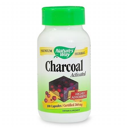 Nature's Way Charcoal Activated 280 mg Dietary Supplement Capsules - 100 ea