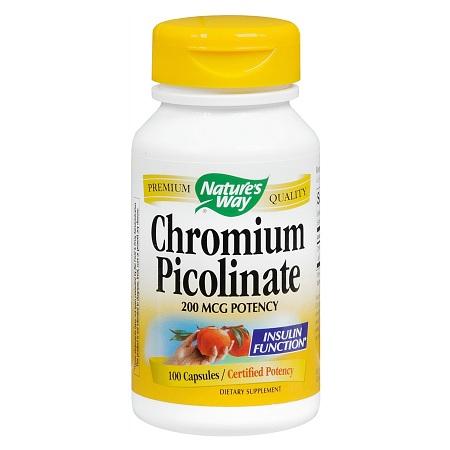 Nature's Way Chromium Picolinate 200 mcg Dietary Supplement Capsules - 100 ea