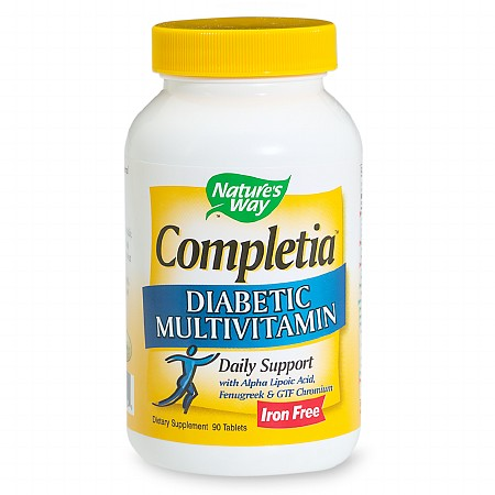 Nature's Way Completia Diabetic Multivitamin Iron Free Tablets - 90 ea
