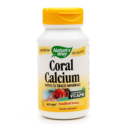 Nature's Way Coral Calcium with 73 Trace Minerals, VCaps - 90 ea