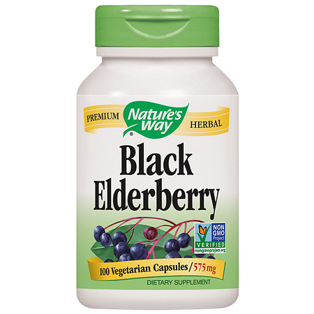 Nature's Way Elderberry,Vegetarian Capsules - 100 ea