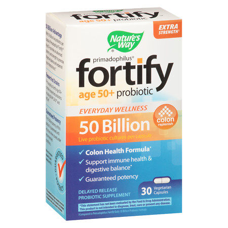 Nature's Way Fortify Age 50+ 50 Billion Probiotic Vegetable Capsules - 30 ea