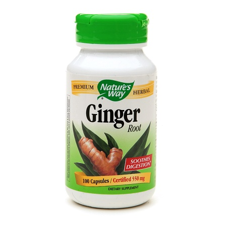 Nature's Way Ginger Root 550 mg Dietary Supplement Capsules - 100 ea