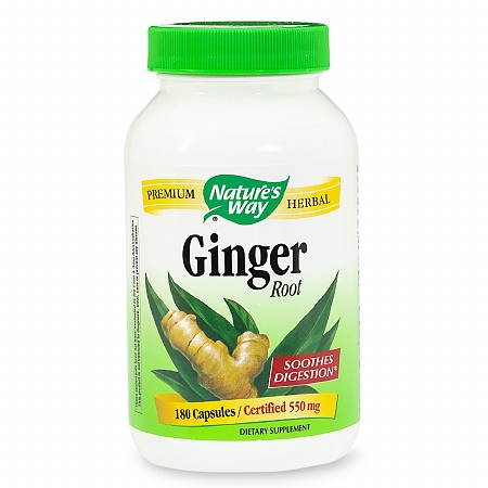 Nature's Way Ginger Root 550 mg Dietary Supplement Capsules - 180 ea