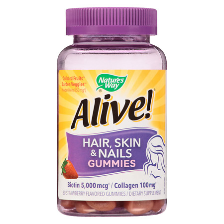 Nature's Way Hair, Skin & Nails Multi-Vitamin Gummies Strawberry - 60 ea