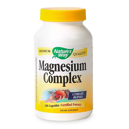 Nature's Way Magnesium Complex Dietary Supplement Capsules - 100 ea