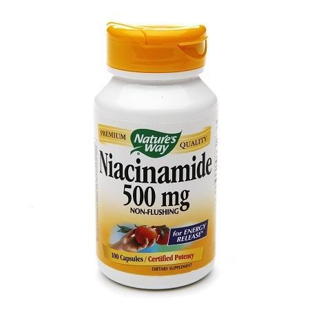 Nature's Way Niacinamide 500mg, Non-Flushing, Capsules - 100 ea