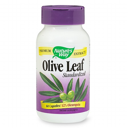 Nature's Way Olive Leaf Standardized Dietary Supplement Capsules - 60 ea
