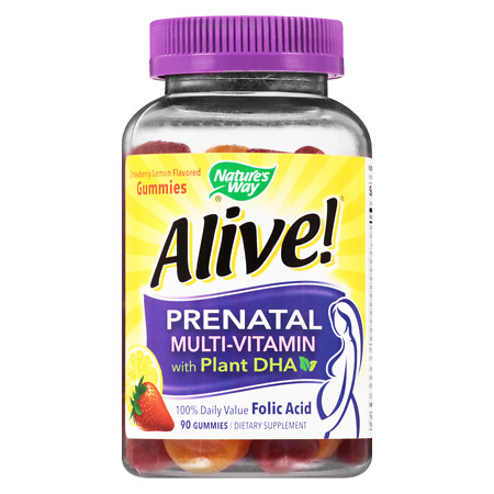Nature's Way Prenatal Multi-Vitamin Gummies StrawberryLemon - 90 ea