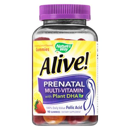 Nature's Way Prenatal Multi-Vitamin Gummies StrawberryLemon - 90 ea