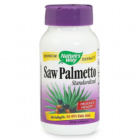 Nature's Way Saw Palmetto Standardized Dietary Supplement Softgels - 60 ea