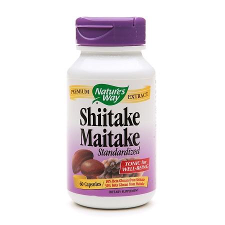 Nature's Way Shiitake Maitake Standardized, Capsules - 60 ea