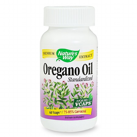 Nature's Way Standardized Oregano Oil, VCaps - 60 ea