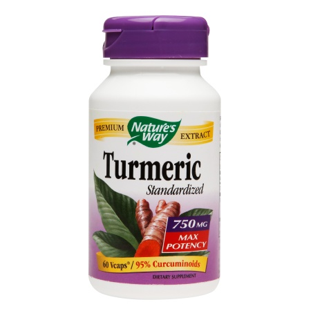 Nature's Way Turmeric Standardized 750mg Vegetarian Capsules - 60 ea