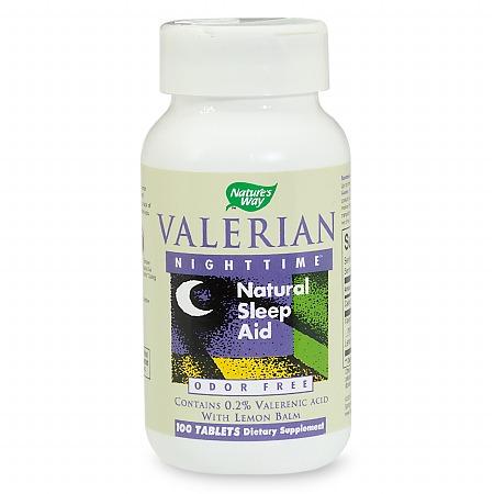 Nature's Way Valerian Nighttime, Natural Sleep Aid, Tablets - 100 ea