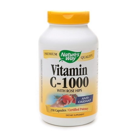 Nature's Way Vitamin C-1000 with Rose Hips Dietary Supplement Capsules - 250 ea
