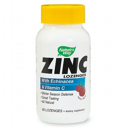 Nature's Way Zinc Dietary Supplement Lozenges Berry - 60 ea