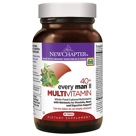 New Chapter 40+ Every Man II Multi Vitamin, Tablets - 48 ea