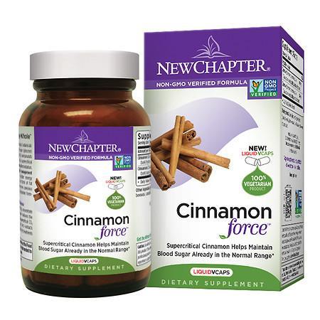 New Chapter Cinnamon Force, Vegetarian Capsules - 30 ea