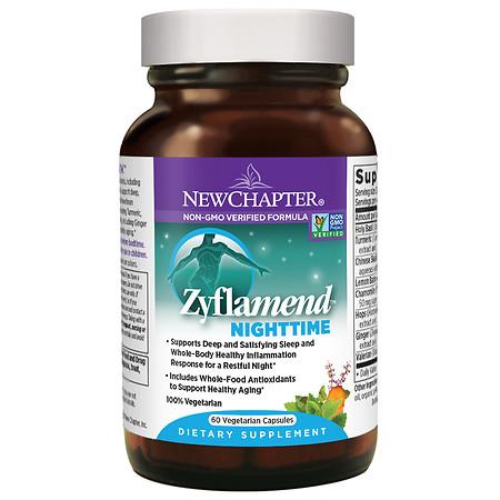 New Chapter Zyflamend Nighttime, Vegetarian Capsules - 60 ea