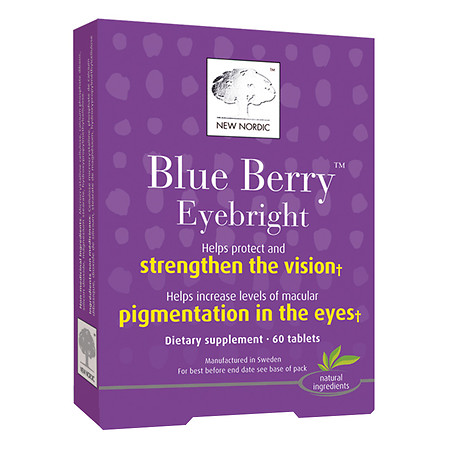 New Nordic Blue Berry Eyebright, Tablets - 60 ea