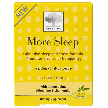 New Nordic More Sleep, Non Drowsy, Tablets - 40 ea
