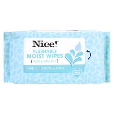 Nice! Flushable Wipes - 84 sh