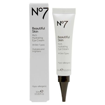 No7 Beautiful Skin Rich Hydrating Eye Cream - 0.5 fl oz