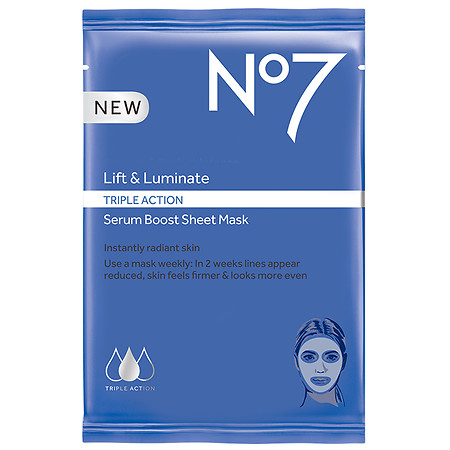 No7 Lift & Luminate TRIPLE ACTION Serum Boost Sheet Mask - 1 oz.