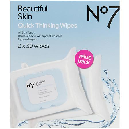 No7 Quick Thinking Wipes - Value Pack - 60 ea
