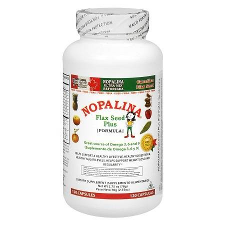Nopalina Flax Seed Plus Dietary Supplement Capsules - 120 ea