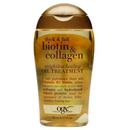 OGX Thick + Full Biotin & Collagen Weightless Healing Oil - 3.3 fl oz