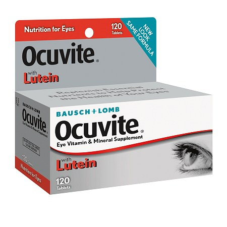 Ocuvite Vitamin and Mineral Supplement with Lutein Tablets - 120 ea